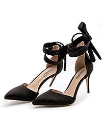 GaoXiao un mot à baotou sandales, bien des talons et talons hauts,black