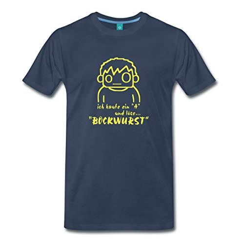 Spreadshirt Löse Bockwurst Männer Premium T-Shirt, 3XL, Navy