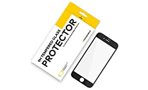 RhinoShield Screen Protector FOR IPHONE 8 / IPHONE 7 [NOT Plus] [9H 3D CURVED EDGE] To Edge Tempered Glass | Full Coverage Clear and Scratch Resistant Screen Protection Black