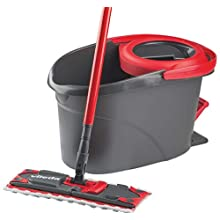 Vileda Easy Wring Ultramat Flat Mop and Bucket with Power Spin Wringer