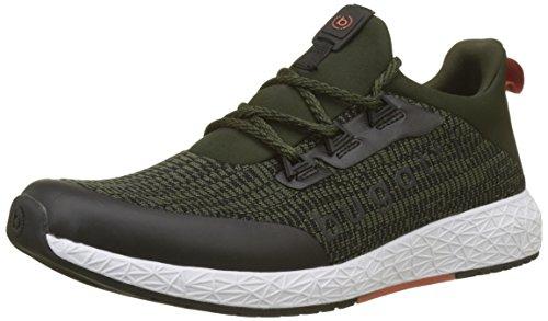 bugatti Herren 342518606900 Slip On Sneaker, Grün (Dark Green), 44 EU -