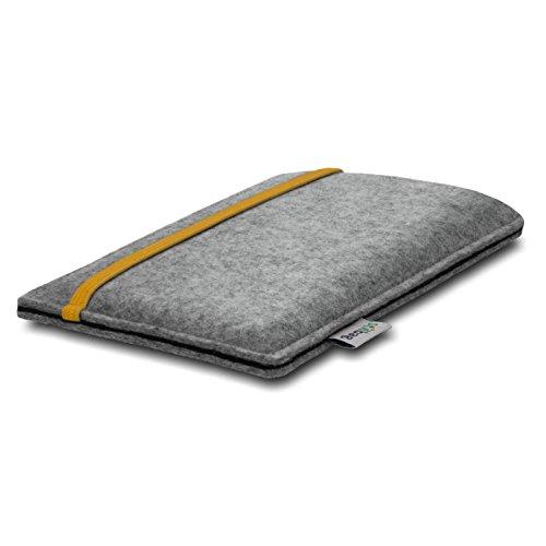 Stilbag Filztasche 'LEON' für Apple iPhone 7 plus - Farbe: rosa-hellgrau gelb