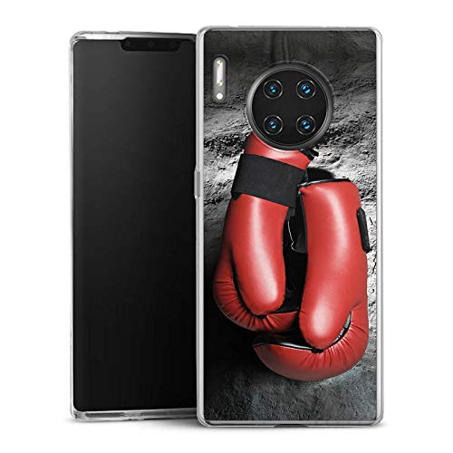 DeinDesign Slim Case kompatibel mit Huawei Mate 30 Pro Silikon Hülle Ultra Dünn Schutzhülle Boxen Boxhandschuhe Fight