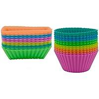 Ipow® stampini/pirottini colorati in silicone per tortine,Muffin,Cupcake-