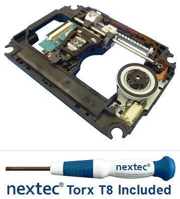 Neuf - Sony PS3 Bloc Optique Lentille Laser + Plateforme Chariot (KES-470A/ KES-470AAB/ KEM-470A/ KEM-470AAB) + Nextec® Tournevis de Sécurité T8