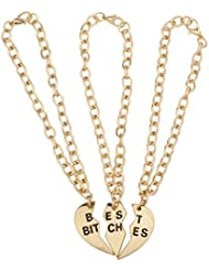 LUX accesorios Best Bitches BFF Mejor Friends Forever Sisters Trio Familia pulsera a juego