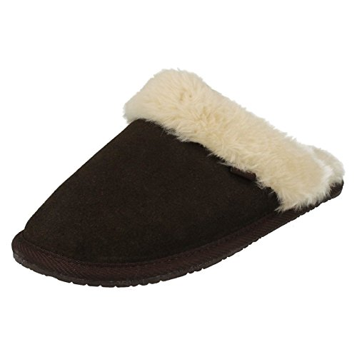 8396b99b99800 Clarks Womens Seasonal Clar Wren Bird Suede Slippers In Chocolate Standard  Fit Size 5 - Buy Online in Oman.   Apparel Products in Oman - See Prices,  ...