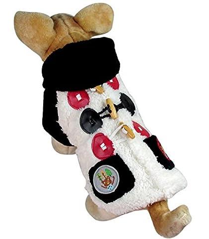 Ranphy Ours Patch Manteau d'hiver Veste en polaire par temps froid manteaux Chihuahua Capuche Puppy JumpSuit Tenue pour mâle femelle
