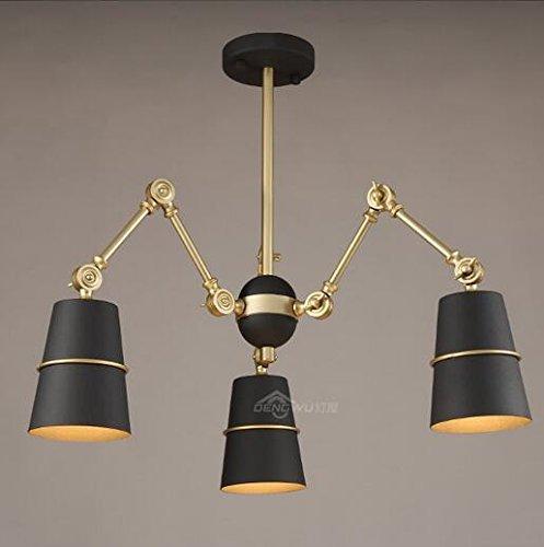 Geometrische Drei-licht-anhänger (MOMO Personifizierte dekorative Beleuchtung Italien-Art-Kunst-Lampen Nordischer geometrischer Draht-einzelnes Internet Caf Uml; Brvbar; Restaurant Teeladen Kronleuchter, ein,DJ-D0745-3 Gold 3Wled)
