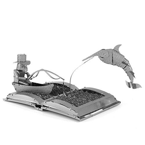 Faszination Metal Earth Der alte Mann und die Sea Book Skulptur 3D Metal Model (Mann Kit Alter)