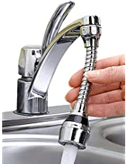 Piesome Stainless-Steel Universal Faucet Adapter 360 Degree Rotate Flexible 2 Spray Setting Water Extender Faucet Sprayer for Easy Clean Sink, Bathroom, Rinsing Fruits, Etc, Water Faucet Kitchen Tap
