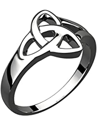 Sterling Silver Celtic Trinity Love Knot Ring (Weight 4 gms)