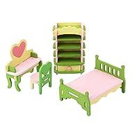 Mobili Casa Delle Bambole Giocattolo Di Legno Insieme Cameretta