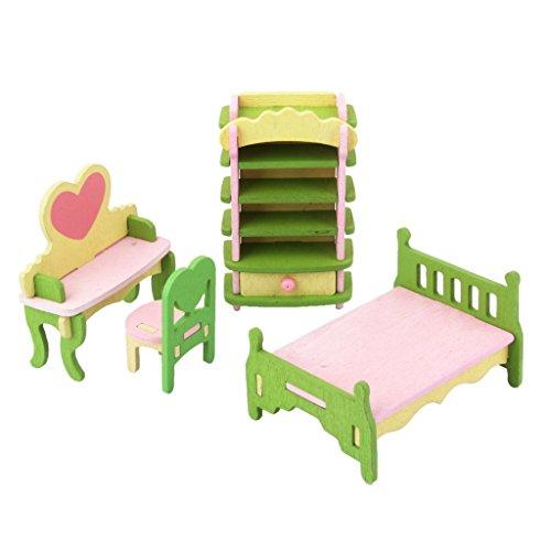ebnis-Holzspielzeug Kinder Schlafzimmer-Set (Kinder Schlafzimmer Möbel-sets)