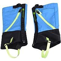 Sharplace Impermeables Deportivo de Senderismo Al Aire Libre Caminando Escalada Esquí Nieve Piernas Polainas Prueba de Viento Guardia de Protección para Niños - Azul