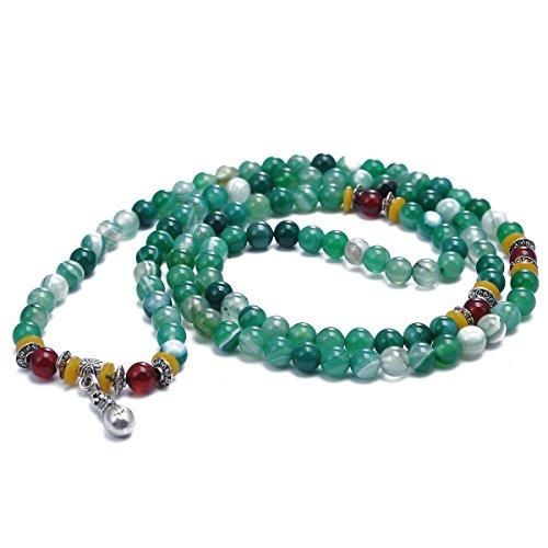 s Gebet Armband Kristallperlen 108Perlen Kuerbis Geldboerse Legierung kleine Perlen Gebetskette elastische Linie Armband (Kürbis-gebet)