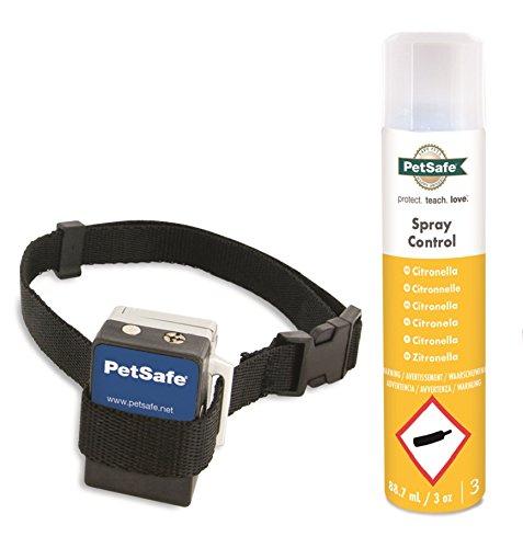 PetSafe Erziehungshalsband, automatische Sprühfunktion, Anti-Bell Hundetraining, Mikrofon Sensor, wetterfest wasserabweisend, umweltfreundlich, Nylonhalsband+Batterie, für Hunde 2,7kg+