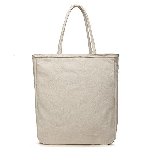 Vento verticale semplice puro cotone canvas bag Tote/Borsa a tracolla-A A