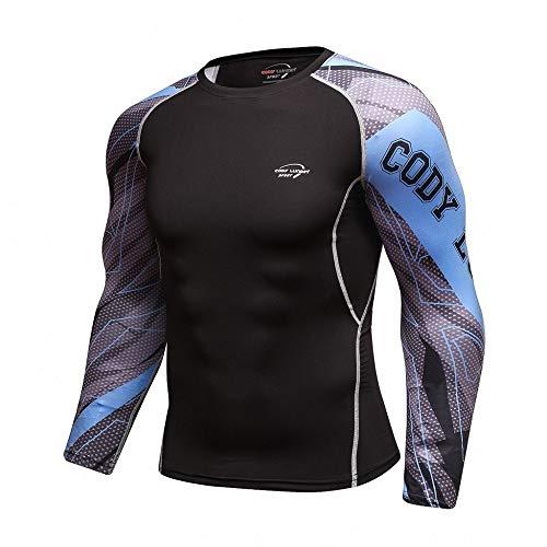 Herren Pullover Schwarz T-Shirt Figurformendes Kompressionsshirt Langarm Funktionsshirt Fitness Sportshirt Cool…