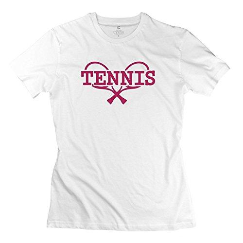 Femme's T-shirts Tennis blanc par  Ellen Denise