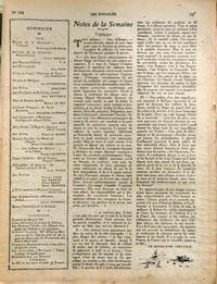 ANNALES (LES) N° 1784 du 02-09-1917 B. CHRYSALE - REHABILITATION PAR SARCEY - LEON PLEE - HISTOIRES DE TURCS PAR HERMANT - SCHURMANN - SERGINES - LES COULISSES DU REICHSTAG PAR WATTERLE - LE BON - L'ORIENT FRANCAIS - LA SYRIE SYRIENNE PAR DELARUE-MARDRUS - UNIVERSITES D'AMERIQUE PAR BOIS - L'ARGENT ALLEMAND - CAPUS - DE MARES - R. VALLERY-RADOT - G. LECOMTE - F. COPPEE - L. PAYEN - POEMES - FABIE - RAMEAU - DROIN ET MAUNIER - P. LALO - G. TIMMORY