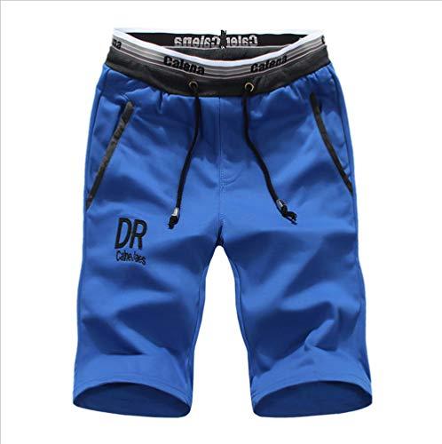 MYPNB Pantalones Cortos para Hombres Pantalones Cortos para Hombres Pantalones de Punto Hombres Pantalones Cortos para jóvenes deportivos Hombres@Azul_XXL