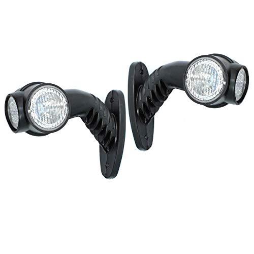 2x LED 24V Begrenzungsleuchten LKW E-Prüfzeichen Anhänger