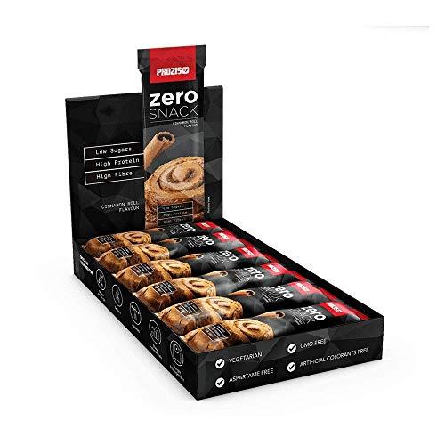 Prozis Zero Snack, 35 g, Brioche alla Cannella, Confezione da 12 Pezzi
