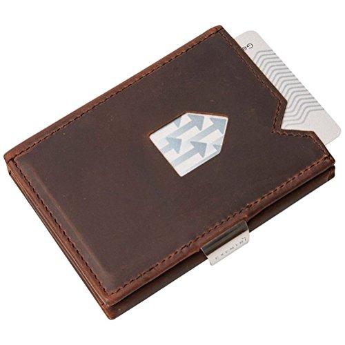 mysunshine Exentri Fashion a portafoglio in pelle porta carte regalo ideale per uomini, Nubuck Brown