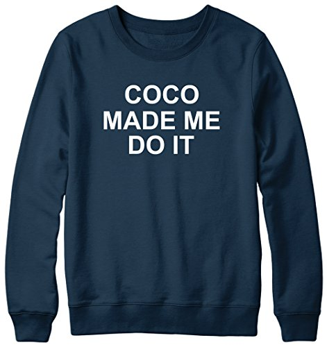 COCO Made Me Do It Hipster Pull Unisexe Bleu - Bleu marine