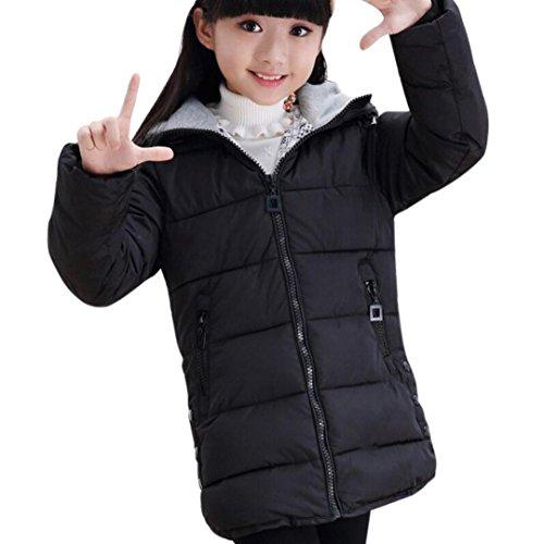 Longra Wintermantel Kinder Mädchen Lang Parka mit Kapuze Steppmantel verdickte Winterjacke Daunenmantel für Kinder Daunenjacken Wintermantel Slim...