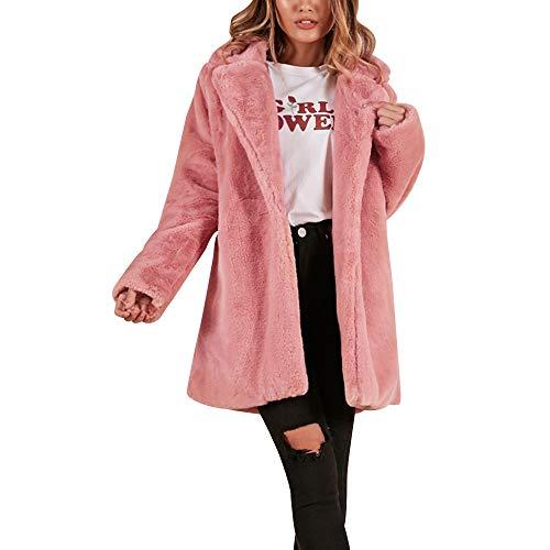 emp maentel Frauen Lässige Mode Winter Warmes langes Kunstfell Mantel Jacke