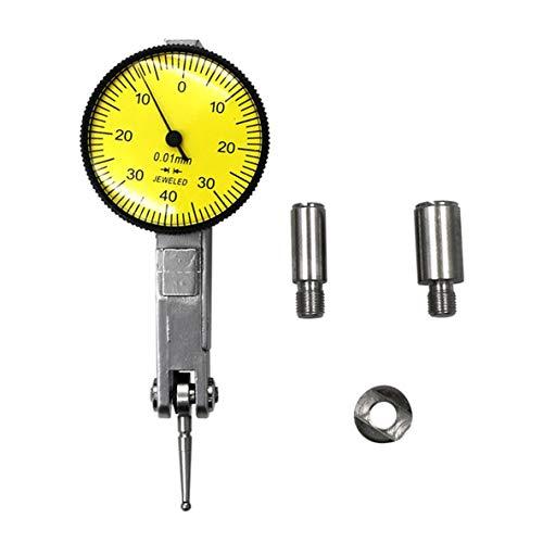 Monllack Messuhr-Testanzeige 0-0,8 mm Messgerät-Tool-Kit Hochpräzises Messgerät mit Hebelanzeige Langlebige Analysegeräte -