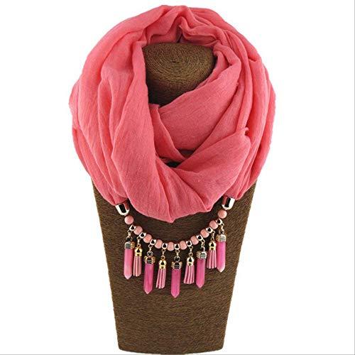 FOR TMT Schal Anhänger Halskette Schal Für Frauen Chiffon Baumwollschal Mit Anhänger Foulard Femme Zubehör Schal Frei 29 Geschenk