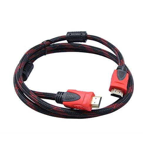 YUnnuopromi 1,5 m Dual Ring HDMI 1,4 Version Kabel Stecker-Adapter für STB HDTV Projektor Schwarz roten 1 Hdtv Display