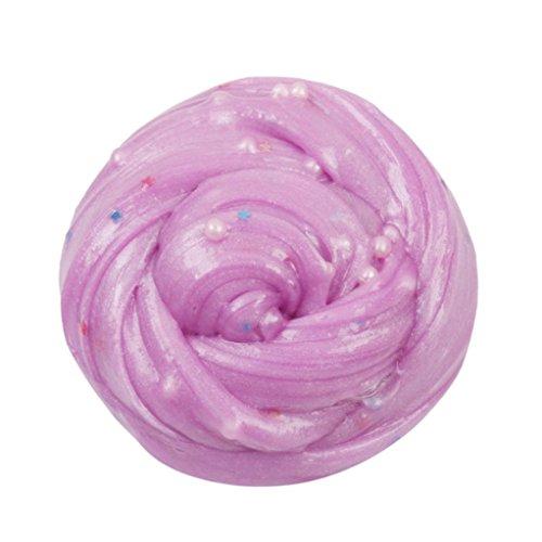 fat. chot flauschig weich schlamm Pearl Floam Star Slice Mud nichttoxischem Duft DIY Ton Stress Relief Spielzeug für Kinder Erwachsene 8Unze, rose, 80ml (1 Unze Schwarze Rose)