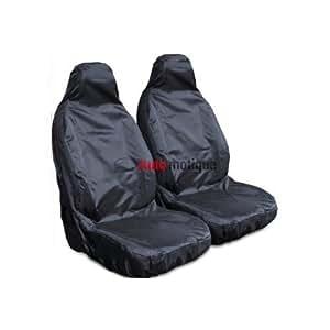VW AMAROK (2+) HEAVY DUTY BLACK WATERPROOF SEAT COVERS 1-1