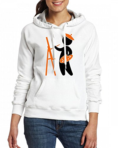 Artist Womens Hoodie Fleece Custom Sweartshirts white