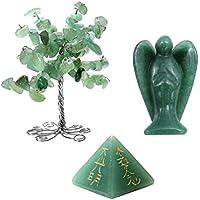 JOVIVI Deko Set,Wire Wrap Trommelsteine Baum Deko+Engel Schutzengel Reiki Stein+Usui Reiki Symbol Pyramide Dekoration... preisvergleich bei billige-tabletten.eu