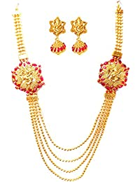 Triumphin Red 14K Gold Plating Jewelry Sets For Wedding Jewelries For Women Necklace For Girls/women