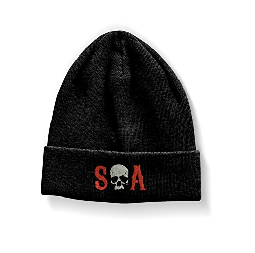 ze Beanie Cap Embroidered skull logo Nue offiziell (Sons Of Anarchy Womens Jacket)