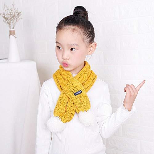 IYBLHDF Strick-Lätzchen für Jungen und Mädchen, Wollschal, süßes Baby Kinder, gekreuztes Haar, um warm zu halten Gr. Einheitsgröße, (Süße Rote Haube Teenager Mädchen Kostüm)