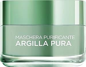L'Oréal Paris Maschera per il Viso Argilla Pura Purificante con Eucalipto, Purifica e Opacizza la Pelle, 50 ml