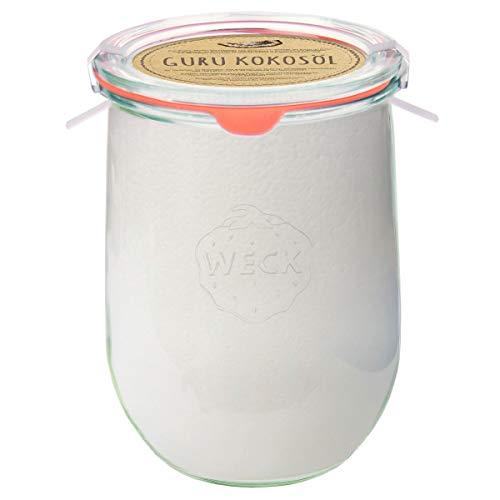 Guru Premium Kokosöl nachhaltigen Weck Glas (Einmachglas) (Groß)