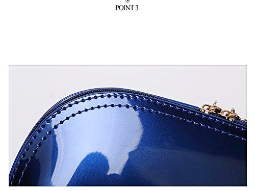 Happy Lily, Borsetta da polso donna, Rose (turchese) - fauxpatentleatherclutchRose Blue
