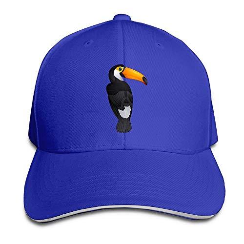 Unisex Sandwich Peaked Cap Cute Toucan Bird Clipart Adjustable Cotton Baseball Caps