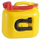 hünersdorff Kraftstoff-Kanister Premium 5l für Benzin, Diesel und Andere Gefahrgüter, UN-Zulassung, Made in Germany, Tüv-geprüfter Produktion, Gelb