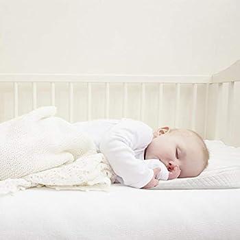Waroomss Baby Keilkissen, Universal Memory Resilience Baumwolle & Wasserdichte Schicht Abnehmbare Abdeckung Anti Reflux Kissen Für Baby Matratze Und Schlaf 1