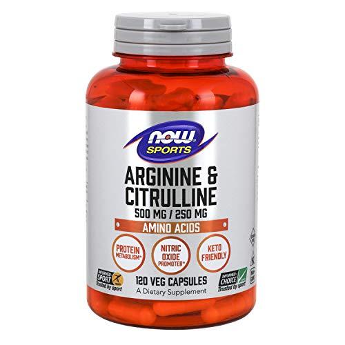 Arginine & citrulline 500/250 mg - 120 gelules - Now foods