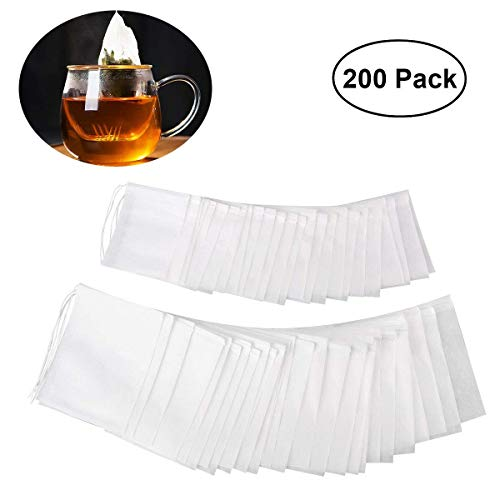 Bolsita de te de Filtro, YKEZHU 200 Piezas Bolsas Bolsita de té de Papel Desechable, 7*9CM